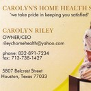 CAROLYN'S HOME HEALTH STAFFING SERVICE